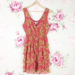 NEW Forever 21 Summer Floral Ruffle Dress S